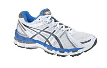 Asics Women's Gel Kayano 19 W white/titanium/blue french